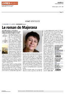 """Livres Hebdo – 6 novembre 2011 : """"Une réussite !"""""""