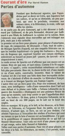 Hervé Hamon nous parle de Tatiana !