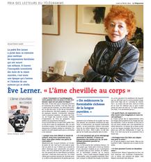Ève Lerner au Prix des Lecteurs du Télégramme !
