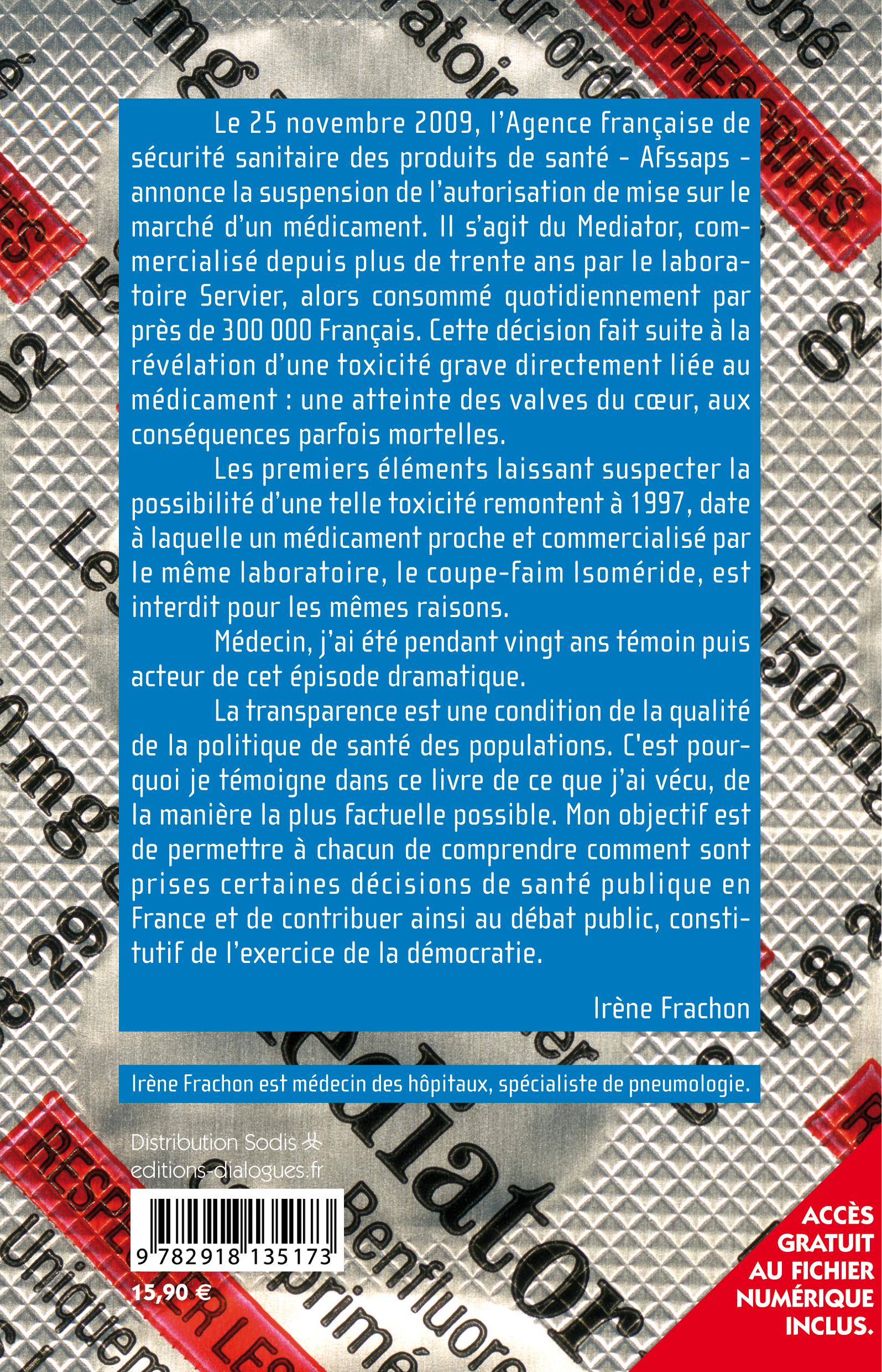 éditions Dialogues - Irène Frachon - Mediator 150 mg